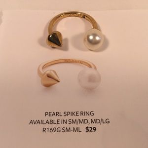Stella and Dot Pearl Spike Ring